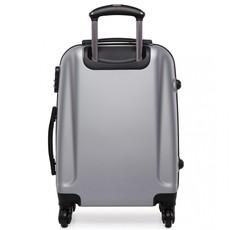 Kufor - praktický, plastový, cestovný, sivý