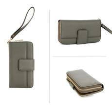 Peňaženka - elegantná s remienkom na ruku, šedá
