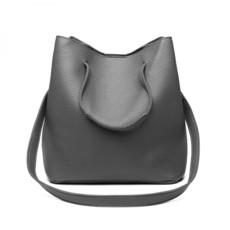 Set kabeliek - eko kožený s peňaženkou, sivý