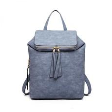 Batoh - štýlový fashion s doplnkami, modrý