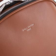 Batoh - Gallantry Paris eko kožený na zips, hnedý