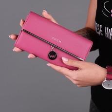 Peňaženka - Paisley, tendency s doplnkami, tmavoružová