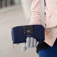 Peňaženka - Keli keysis, black dots, tmavomodrá