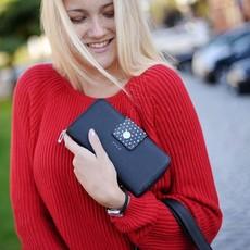 Peňaženka - Judy Jasmine, black dots, čierna