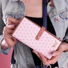 Peňaženka - Rosali bodkovaná, ružová