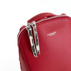 Batoh - zipsový s dierkovým lemom Diana, červený