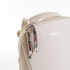 Batoh - zipsový s dierkovým lemom Diana, béžový