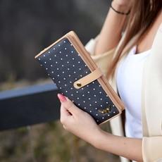 Peňaženka - Rory bodkovaná, čierna