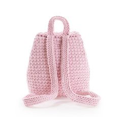 Batoh - háčkovaný ružový
