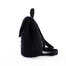 Batoh - ručne háčkovaný čierny