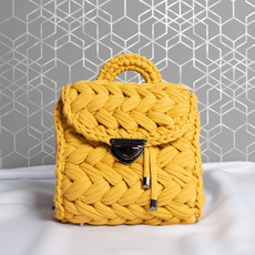 Kabelka - háčkovaná elsie, žltá
