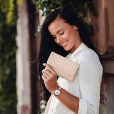 Peňaženka - Stellyn kožená béžová