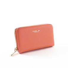 Peňaženka - stredná elegantná Diana, broskyňová