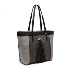 Kabelka - Maja so strapcami na rameno šedá