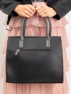 Kabelka - elegantná Luigisanto do ruky, čierna/sivá