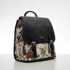 Batoh - kvetinový s prackami, čierny