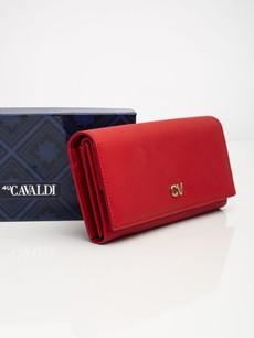 Peňaženka - koženková Cavaldi, červená