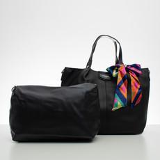 Kabelka - DJ s farebnou mašľou, čierna