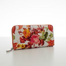 Peňaženka - letné kvety, oranžová