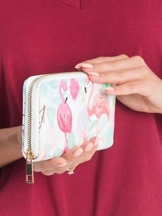 Peňaženka - s pelikánmi, biela