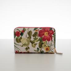 Peňaženka - stredná kvetinová Diana, červená