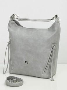 Kabelka - Riana na rameno s popruhom šedá