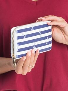 Peňaženka - námornícka bielomodrá