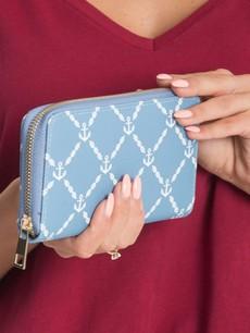 Peňaženka - modrá s kotvičkami