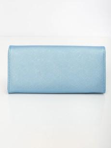 Peňaženka - saffiano na cvok, modrá