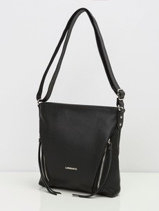 Kabelka - crossbody Luigisanto so zipsmi, čierna