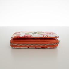 Peňaženka - stredná kvetinová Diana, oranžová