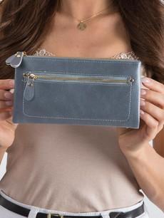 Peňaženka - koženková Milano design sivomodrá