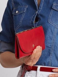 Peňaženka - tenká Milano design červená