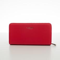 Peňaženka - elegantná Diana do kabelky, korálová červená