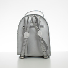 Batoh - malý koženkový Diana s doplnkami, strieborný