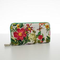 Peňaženka - letné kvety, zelená