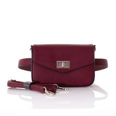 Kabelka - s popruhom na pás, crossbody FloraCo burgundy