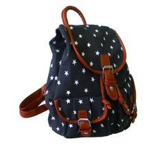 Ruksak - hviezdičkový s vreckami čierny