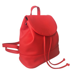 Batoh - Chloe koženkový červený